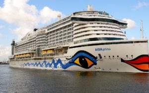 Live Cruise Ship Tracker for AIDAprima, AIDA Cruises