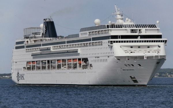 Live Cruise Ship Tracker for MSC Sinfonia, MSC Cruises