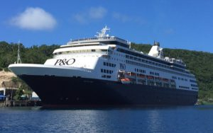 Live Cruise Ship Tracker for P&O Pacific Aria, P&O Cruises